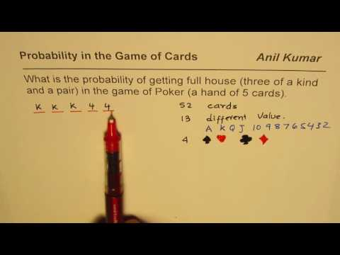 Probability of Full House 3 of a Kind and a Pair in Poker Hand of 5 Cards