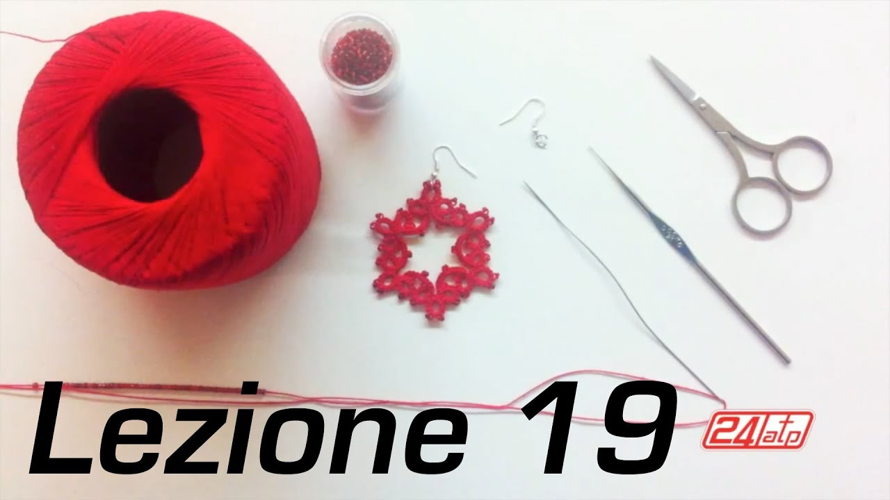 Molto Chiacchierino Ad Ago - 19˚ Lezione Orecchino Cerchio Con Perline  ZS66