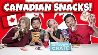 AMERICAN FAMILY TRIES SNACKS FROM CANADA!!!! Eating Soapy Gum!