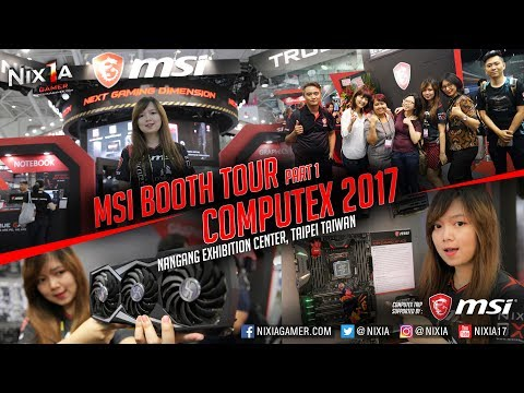 MSI Booth Tour Computex 2017 Part.1 : Motherboard & Graphic Card