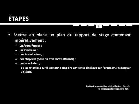 Les étapes Pour Rédiger Un Rapport De Stage