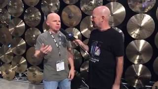 Jimmy Keegan and SABIAN  at NAMM 18 on Drum Talk TV