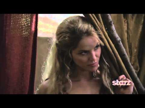 Ellen Hollman as SAXA on Spartacus, War of the Damned !!
