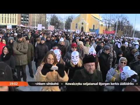 Stop Acta: Eesti protestid Tallinnas ja Tartus - Seitsmesed Uudised - Veebruar 11, 2012