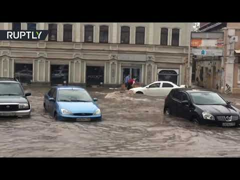 Don't believe your eyes, it's not Venice | Russian city goes underwater after heavy rain