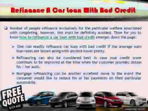 Refinancing a car loan with poor credit