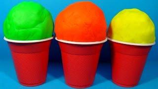 3 play doh ice cream surprise eggs kinder surprise hello kitty disney cars the smurfs spongebob