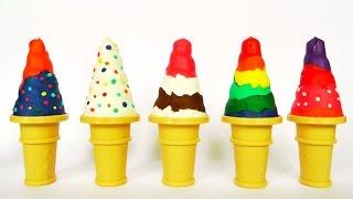 HELADOS DE PLASTILINA play doh/ Ice Cream en español con plastilina