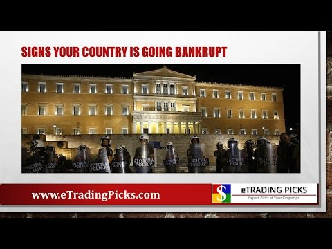 Signs Your Country is Going Bankrupt