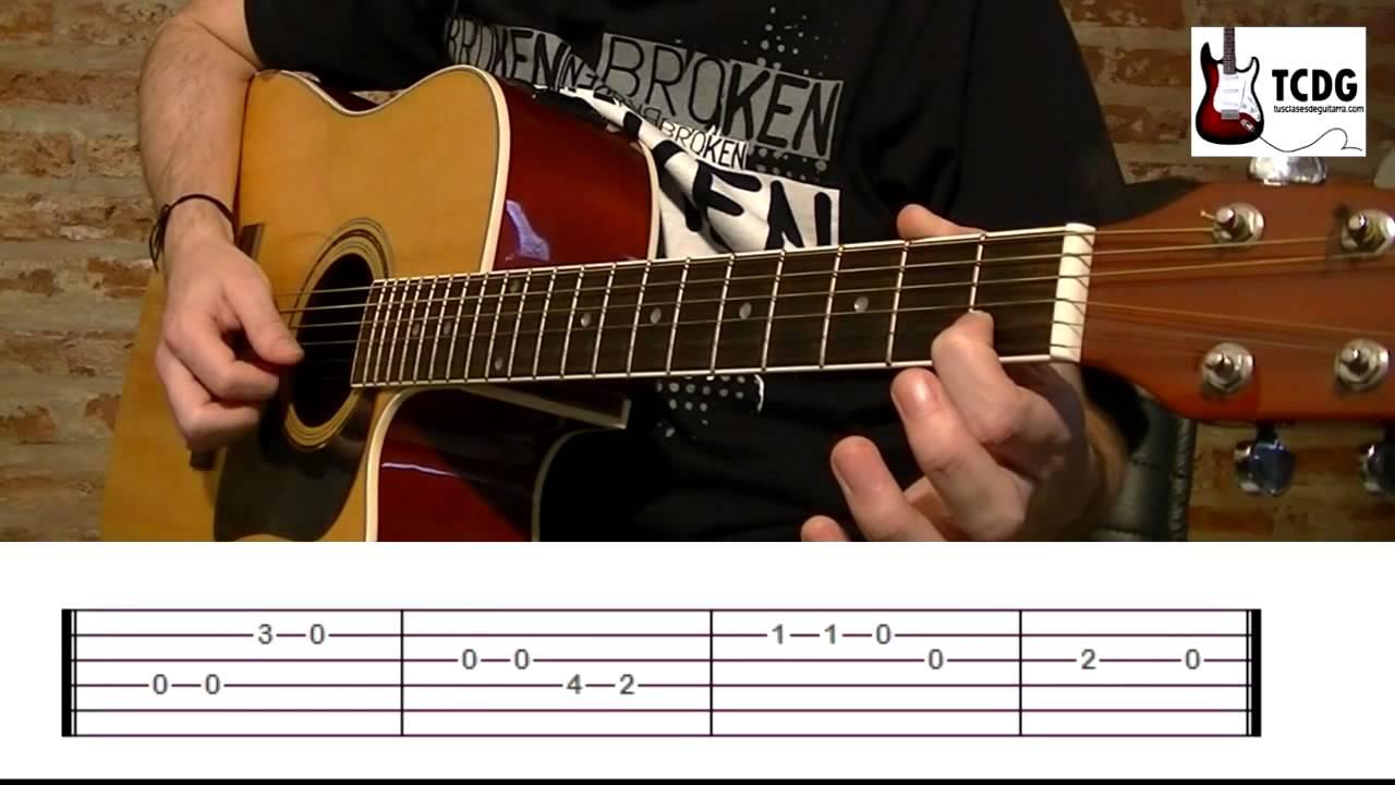 Como Tocar Feliz Cumpleaños En Guitarra Acústica Punteo Y Acordes Tutorial Completo Tcdg Youtube