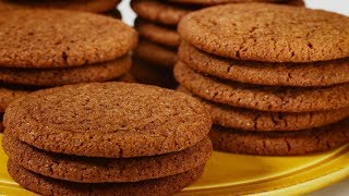 Gingersnap Cookies Recipe Demonstration - Joyofbaking.com