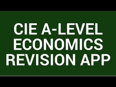 CIE A-level Economics (9708) Revision App