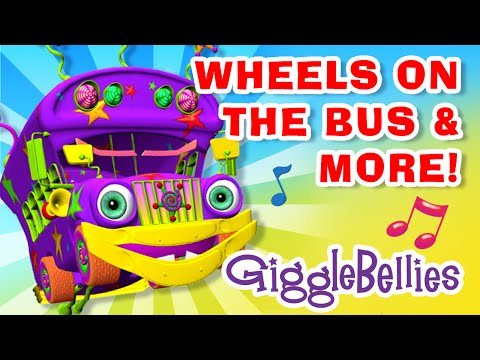Wheels On The Bus, Old MacDonald, and Happy & You Know It | GiggleBellies