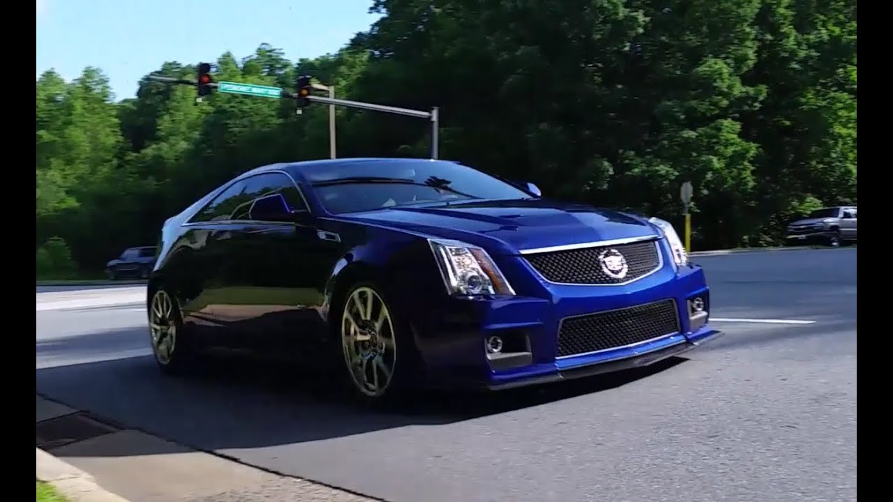 Cadillac Cts V Coupe Custom Exhaust Road Test Youtube