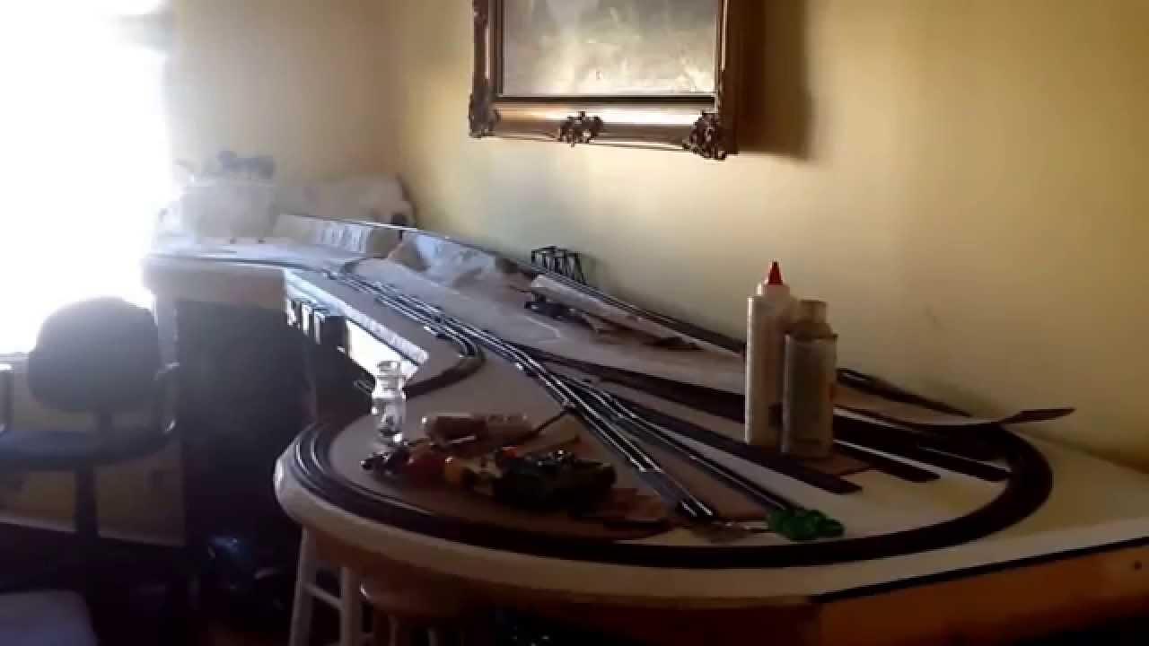 How To Build An Ho Scale Train Shelf Layout 1 Youtube