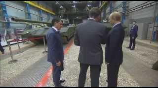 بوتين يشاهد ولادة أحدث دبابة