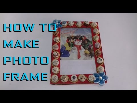 ✔☺Newspaper art || photo frame with paper || decorative item from waste materials