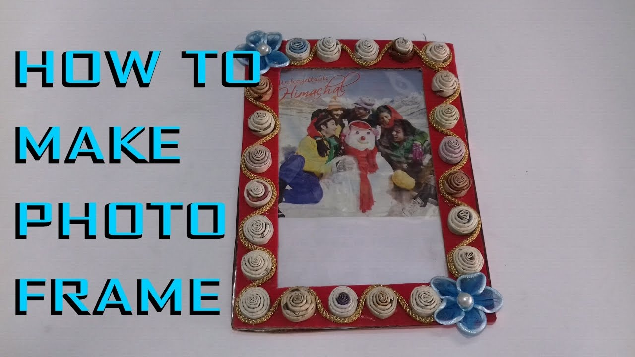 How to make photo frames with waste materials for Making of decorative item from waste material