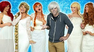 SHOULD JACK FROST MARRY ELSA, ANNA OR RAPUNZEL? (Or Ariel or Belle) Totally TV Parody