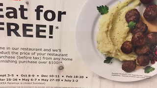 Eating for free at Ikea, good food great deal