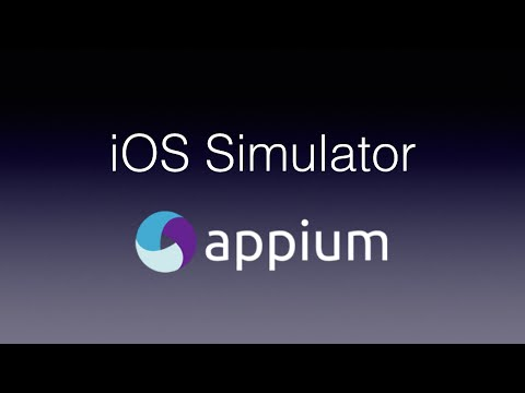 Appium - Testing iOS Apps with the Simulator - YouTube