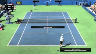 Topspin 4: Roddick vs Federer online 2012 (XBOX)