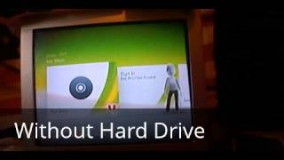 With and Without Hard Drive: Xbox 360