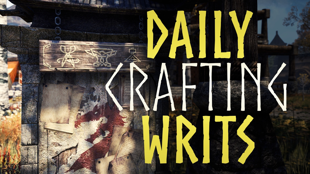 Eso Daily Crafting Writs