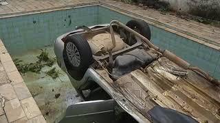 JF Homem morre depois de cair com o carro dentro da piscina no Bom Pastor