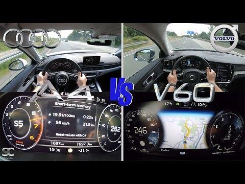 Volvo V60 T5 (249 Hp) VS Audi A4 Avant 45 TFSI (241 Hp)