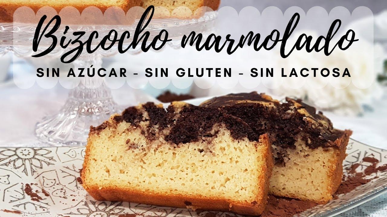 BIZCOCHO MARMOLADO SIN AZÚCAR NI HARINA (Vainilla/Chocolate)
