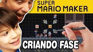 SUPER MARIO MAKER - Eric Criando a fase AWESOME! - Gameplay em Português PT-BR