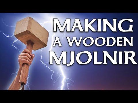 Making a wooden Mjolnir - Thor's Hammer 🔨⚡️