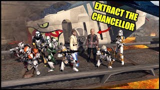 Clone Extraction Force sent to Rescue Palpatine! - Men of War: Star Wars Mod Battle Simulator