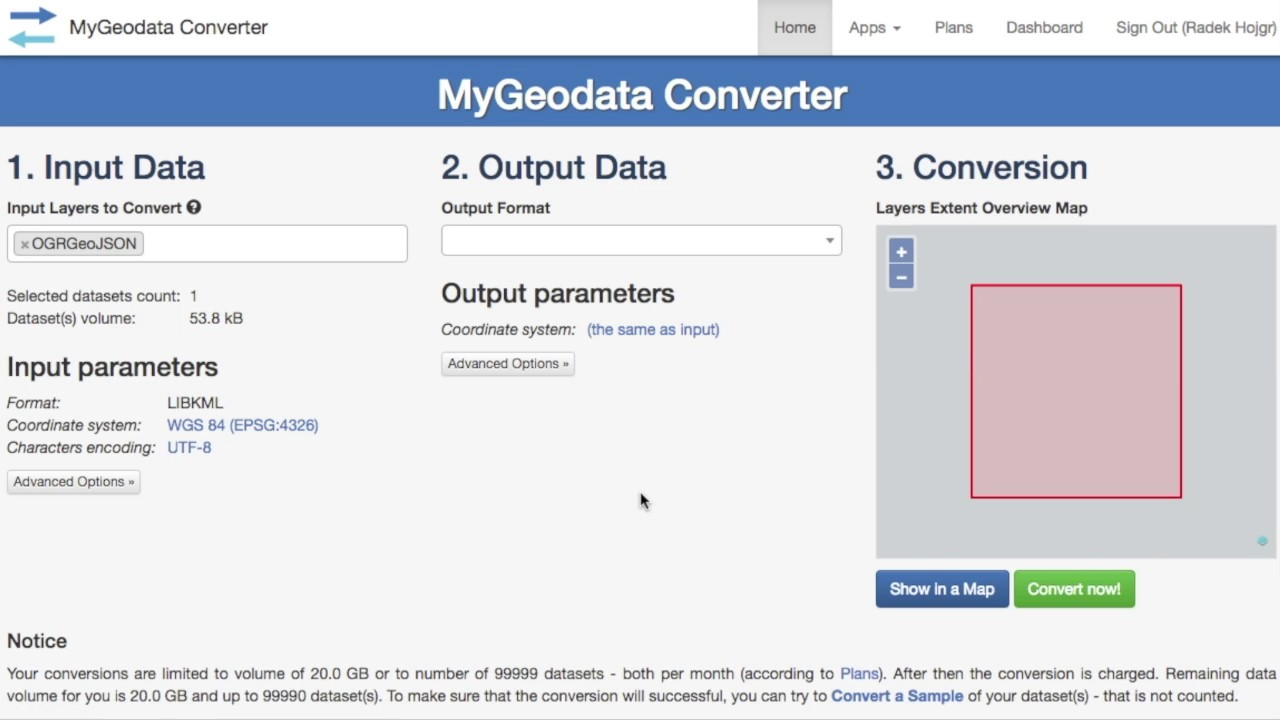 KML to CSV Converter Online - MyGeodata Cloud