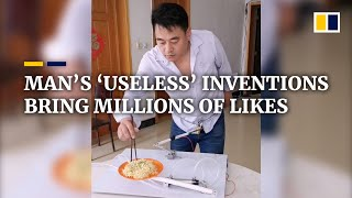 Download Chinese man's 'useless' inventions bring him millions of likes