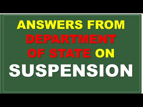 ANSWERS FROM STATE DEPARTMENT ON SUSPENSION OF IMMIGRATION FOR IMMIGRANT AND NON-IMMIGRANT WORK VISA