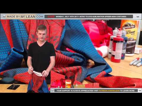 Made by McLean Live- Intro to Dye-Sublimation Spider-Man Costumes