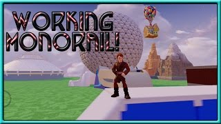 HOW TO BUILD A WORKING MONORAIL! - DISNEY WORLD TOY BOX?! - Disney Infinity 3.0 Gameplay