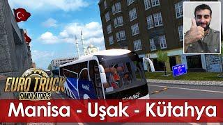 Euro Truck Simulator 2 Türkiye Manisa - Uşak - Kütahya Haritası Bayram Otobüsü