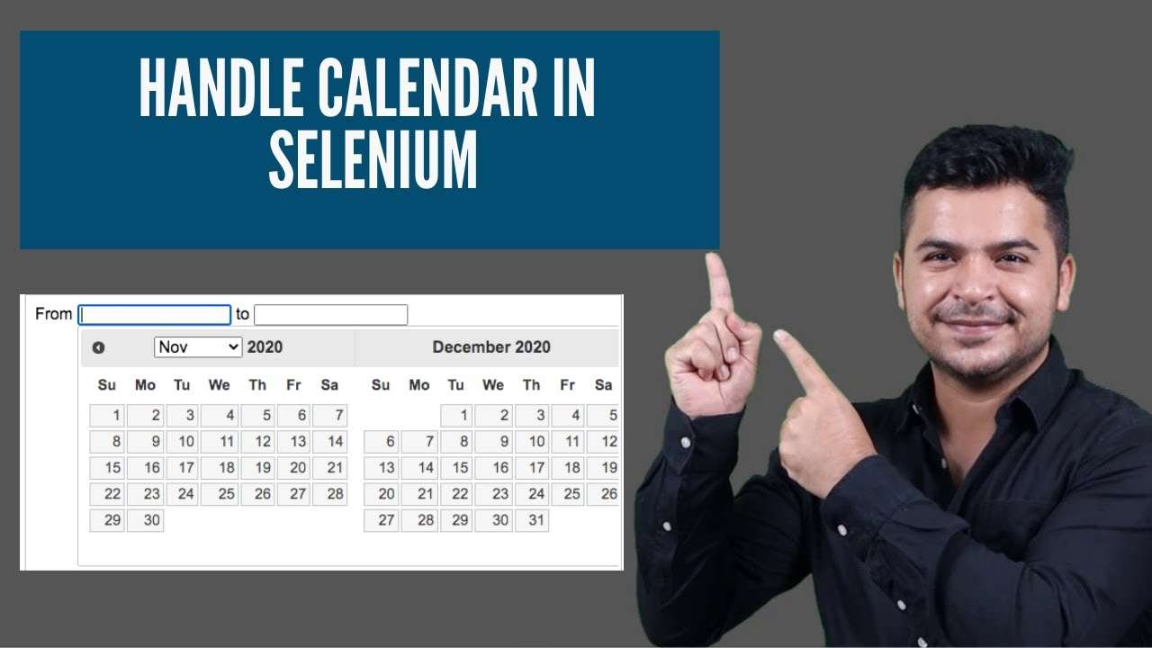 How to handle calendar in Selenium Webdriver or Web table in