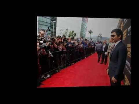 Manny Pacquiao Vs Floy Mayweather Face Off Video   Pacquiao VS Mayweather Press Conference In LA