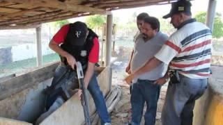 Assalto ao Bradesco de S. J. da Serra-PI. Bandido leva a polícia a arsenal de armas escondida 1/2