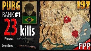 [Eng Sub] PUBG Rank 1 - Tecnosh 23 kills [SA] SOLO FPP - PLAYERUNKNOWN