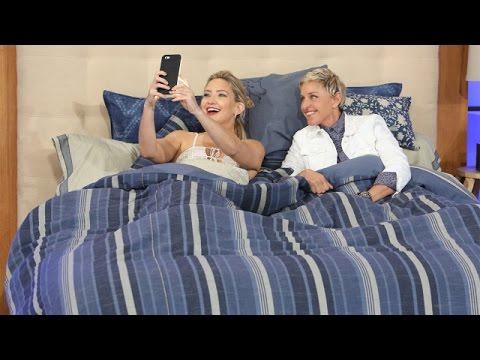 Ellen and Kate Hudson Snapchat Together in Bed