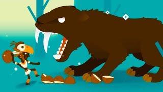 СМИЛОДОН и Кид ОХОТНИК #3 Big Hunter кокосы против дикой зубастой кошкой на крутилкины