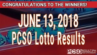 PCSO Lotto Results Today June 13, 2018 (6/55, 6/45, 4D, Swertres, STL & EZ2)