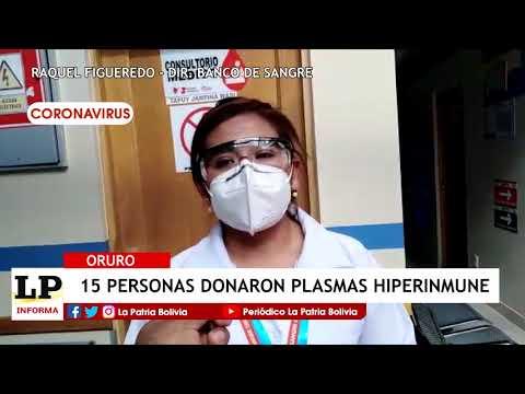15 personas donaron plasmas hiperinmune ...