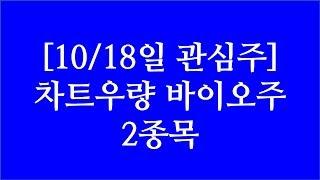 [주식투자]10/18일 관심주(차트우량 바이오주 2종목…