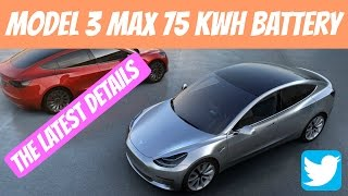 75 KWH Battery Is The Biggest! | Elon Musk Unveils The Final Details About Model 3 on Twitter